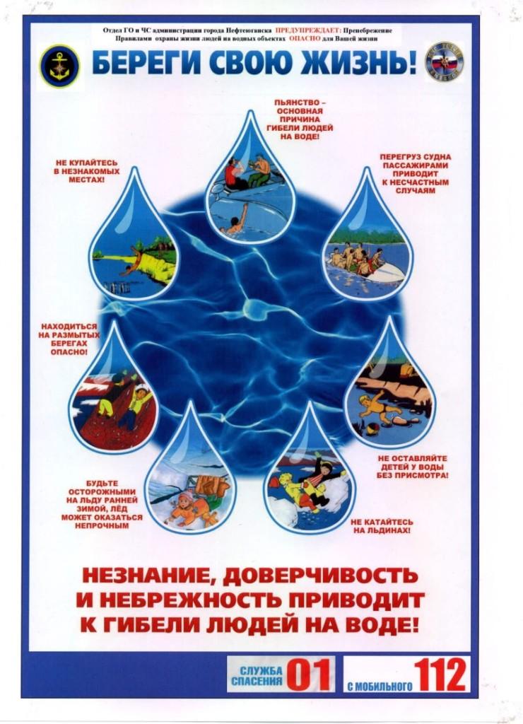 соблюдайте правила безопасности на воде