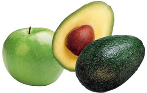 яблочно-авокадный мусс