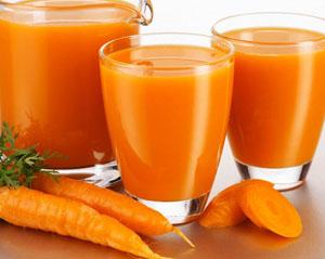 морковный сок полезен бета-каротином