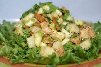 приготовление салата из индейки