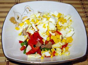 салат из печени трески с овощами богат витамином D