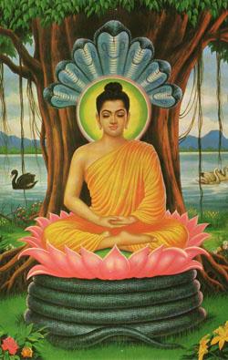 поза лотоса - традиционная медитативная поза