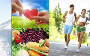 составляющие здорового образа жизни - правильное питание, активность и внутреннее равновесие